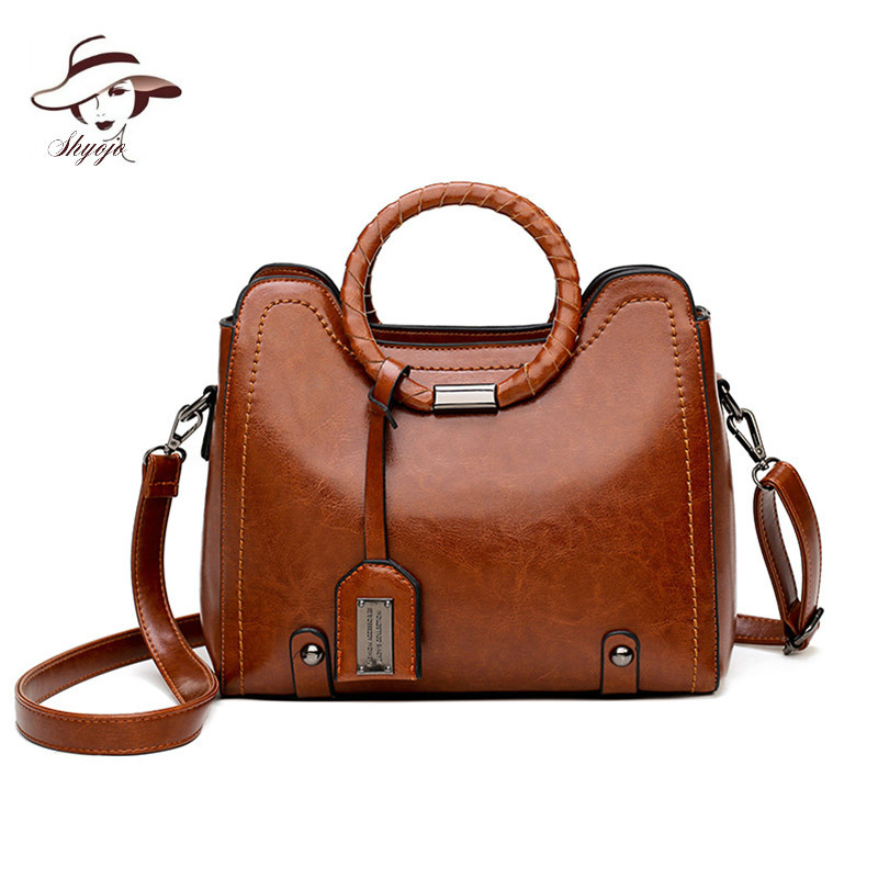 2018 New Fashion Tassel PU Leather Women Handbag Ladies Shoulder Bag Patchwork Messenger Totes Female Large Capacity Sac A Main
