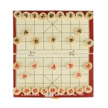 Портативный Xiangqi китайский Шахматный набор шахматная доска Складная Настольная игра шахматы семейная образовательная игра лучшие подарки для друзей