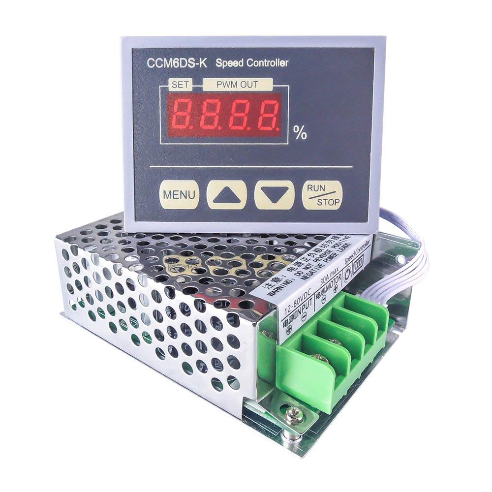 Promotion12v 80v Pwm Hho Dc Motor Speed Controller With Screen Wall Clock Governor Driver 12 30a Digital Display Panel Button Switch