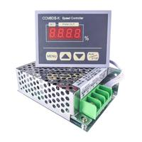 12 80V PWM 30A DC Motor Speed Controller Governor With Digital Display Panel Button Switch, Variable Stepless HHO Driver Module