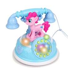 Ретро Дети телефон игрушка телефон раннее образование история машина для телефона эмулированный телефон игрушки для детей музыкальные игрушки