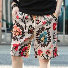 Summer Linen Shorts Men Fashion Brand Boardshorts Breathable Male Casual Shorts Comfortable Plus Size 3XL Cool Short Masculino