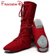 Quality Cloth High Jazz Dance Boot Stage Dance Boots Girls Women Performance Shoes Free Shipping