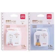 12 uds/lote Mini cinta métrica de piel de Alpaca 1,5 m 60 pulgadas regla flexible portátil tapeline papelería oficina escuela suministros F577