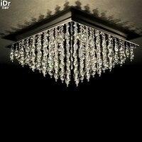 Luxus Kristall gold Deckenleuchten lampe hotel lampe schlafzimmer lampe kristall ornamente 80 cm L x 80 cm W x 36 cm H-in Deckenleuchten aus Licht & Beleuchtung bei