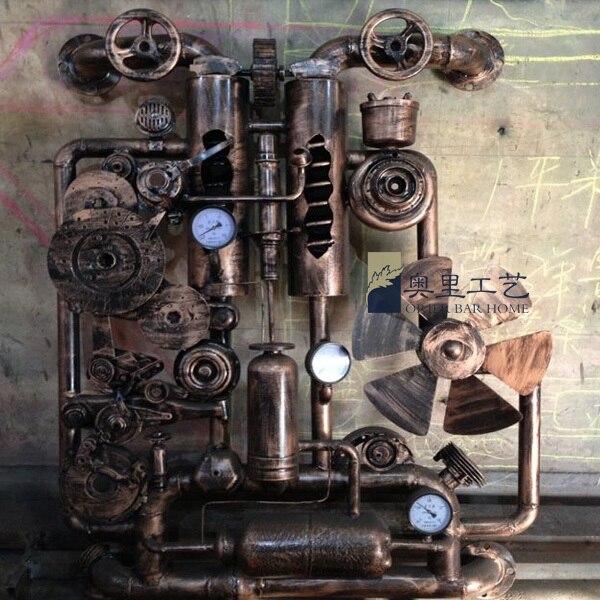 Name Metal Plastic Arts Ktv Decorative Wall Gear Style Wrought Iron Bars
