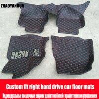 ZHAOYANHUA правый руль автомобиля автомобильные коврики для Audi A5 sportback S5 6D heavy duty all weather автомобиль Стайлинг кожа ковер фло