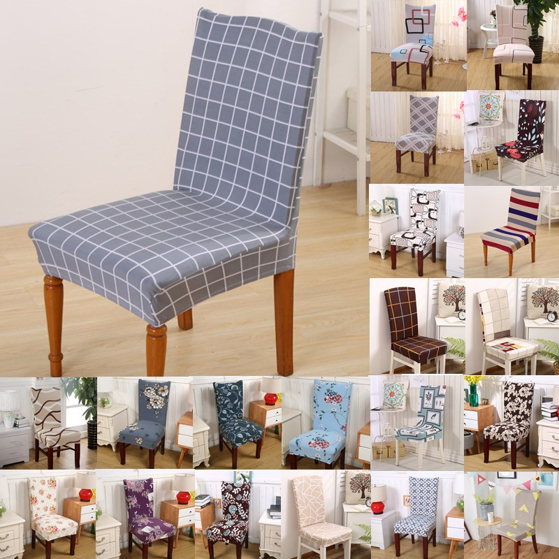 1pcs Plaids Flower Stretch Home Decor Dining Chair Cover Spandex Decoration Covering Office Banquet Hotel