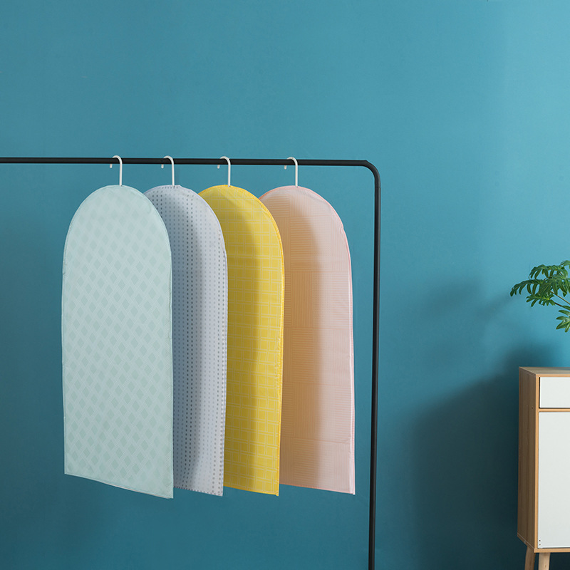 Colorful PVEA Garment Bag Dust Cover Moth-proof For Clothes Storage Suits Dress Coats Protect Case Wardrobe Organizer TM004
