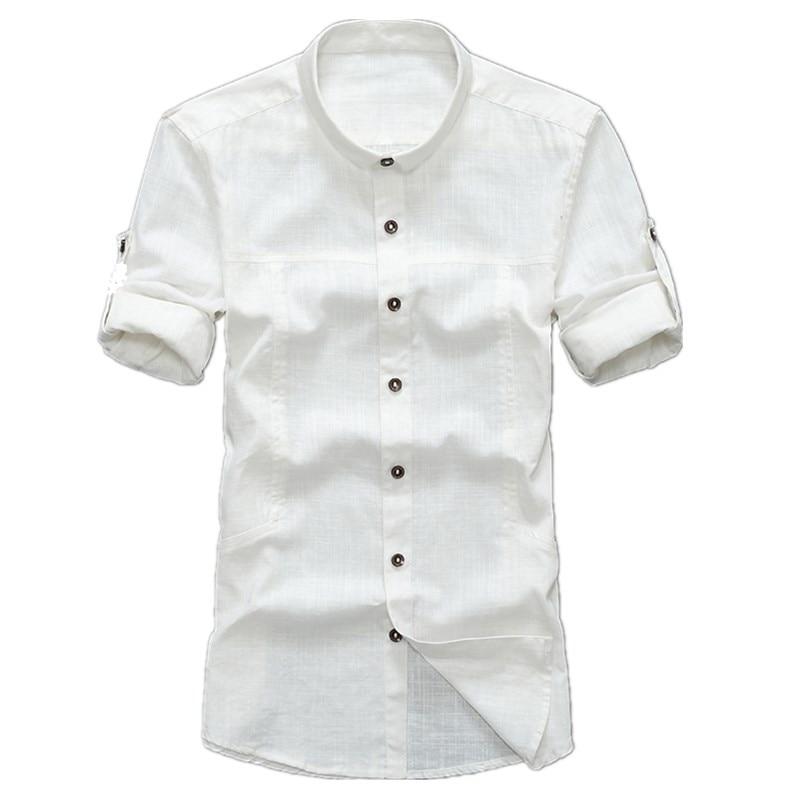 2017 Summer font b Men s b font Brand Linen font b Shirt b font Comfortable