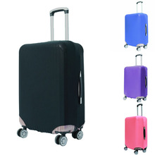 Newest Candy Color Travel Luggage Elastic Rod Box Case Luggage Dustproof Cover Mist Side Bags S M L Size Pure Color Protect Bag