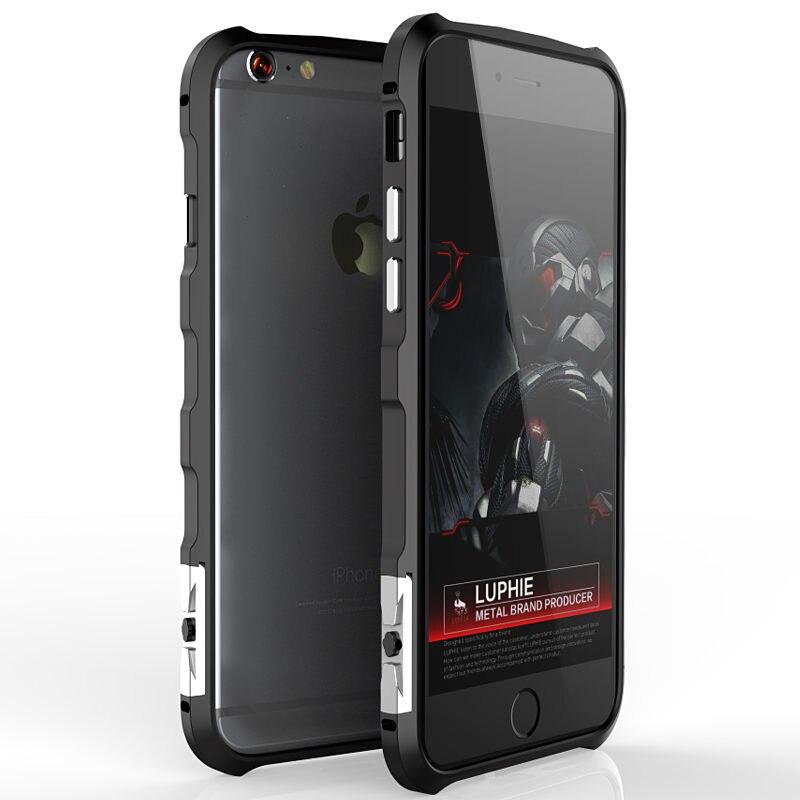 imágenes para Luphie Metal de Parachoques de Aluminio Para El Iphone de Apple 6 S Caso Sin Tornillo Shockpoof Parachoques Del Metal Para el iphone 6 Caso de la Cubierta Shell