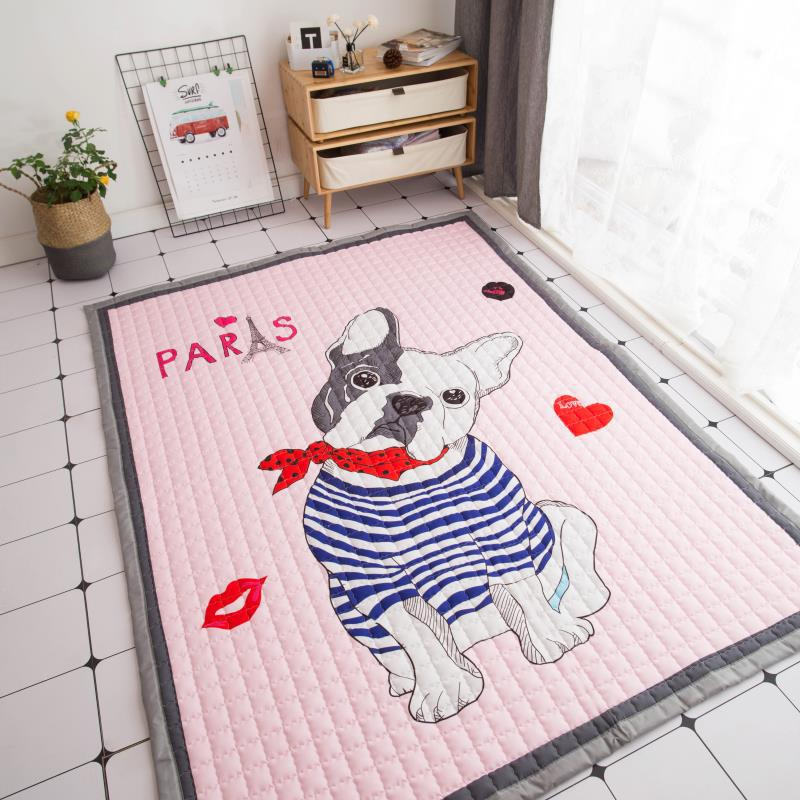 Funny Dog Cotton Baby Play Mat Soft Carpet for Living Room Newborn Baby Protection Pad Thick Kids Crawling Blanket Game Mat 1pc цена