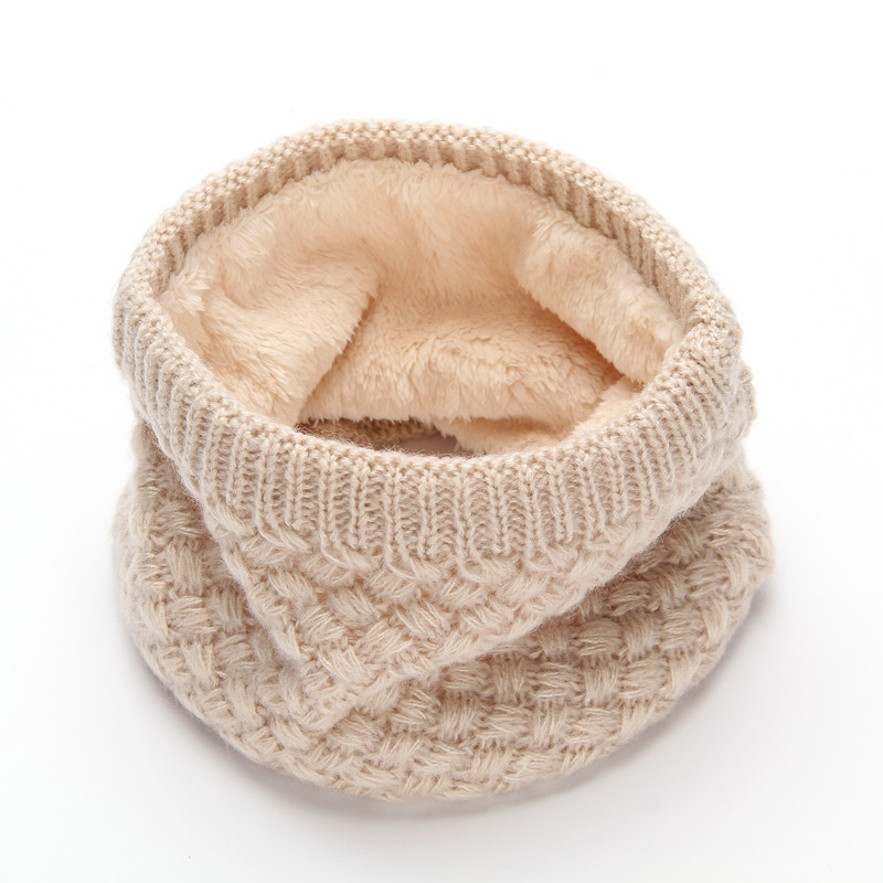 Unisex Winter Women Men Sports Thermal Fleece   Scarf   Children Snood Tube Neck Warmer Cowl Ring   Wraps   Female Face Mask Beanie Hats