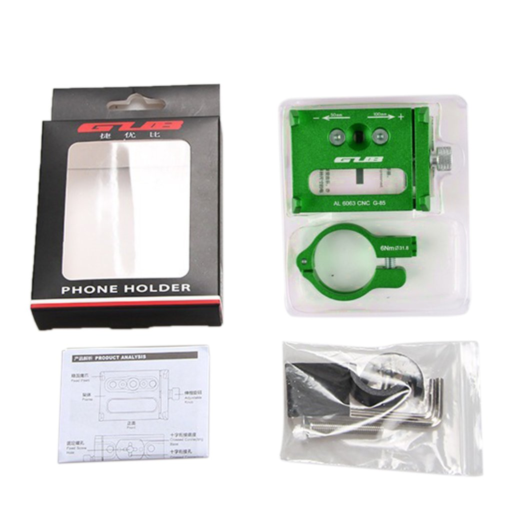 Support pour téléphone portable vélo & moto support pour téléphone portable en alliage d'aluminium avec Rotation de 360 ° réglable