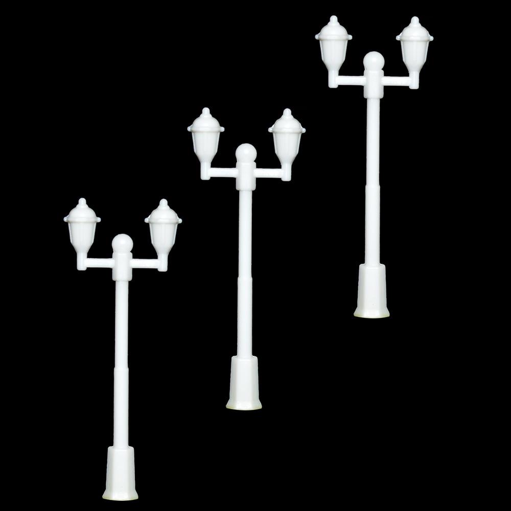 Ho Railway Scenery Layout 1;300 Plastic plastic double heads scale model street light for HO model making