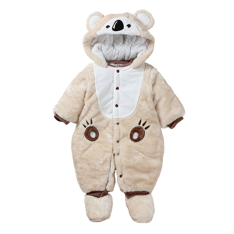 Newborn baby clothes bear onesie baby girl boy rompers hooded plush jumpsuit winter overalls for kids roupa infantil menina unisex baby rompers cotton cartoon boys girls roupa infantil winter clothing newborn baby rompers overalls body for clothes