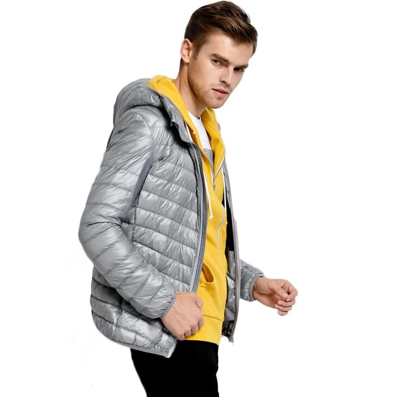 fashion White Duck Down Jacket Men Autumn Winter Mens Causal Hooded Ultralight Down Jackets And Coats jaqueta masculino Parka