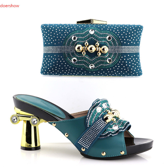 6850617785 doershow African Matching Shoes and Bags Italian In Women Nigerian Party  Shoe and Bag Sets Women Shoes and Bag Set Italy!HV1-8