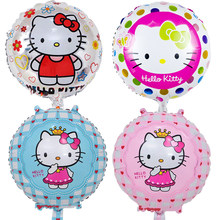 1468f025e 5pcs/lot 18 inch Hello Kitty Foil Balloons Baby inflatable Globos Toy  Birthday Wedding Party