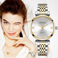 CONTENA Women Watches Diamond Fashion Gold Watches Relogio Feminino Women Watches Reloj Mujer Ladies Watch zegarek damsk Saati