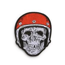 Promotional gifts giveaway Custom Patches Embroidered Logo Baseball Cap Skull Embroidery Sew On Iron applique