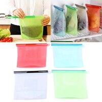 WHISM Silikon Tasche Frischhaltebehälter für Einfrieren Heizung Aufbewahrungstasche Wiederverwendbare Lebensmittel Aufbewahrungstasche mit Kunststoff Sealer
