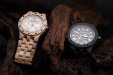 Мода Сезонные Новый Дизайн Деревянные Часы Мужчины Высокого Качества Япония Движение Кварцевые Часы с Giftbox relogio masculino часы саат