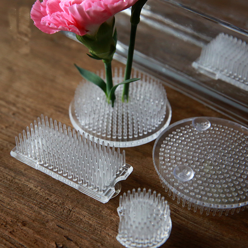 Imported Japanese Ikebana Kenzan Plastic Flower Base Holder Floral Frog Pin Needles  Fixed Tools Kenzans Suitable For Glass Pot