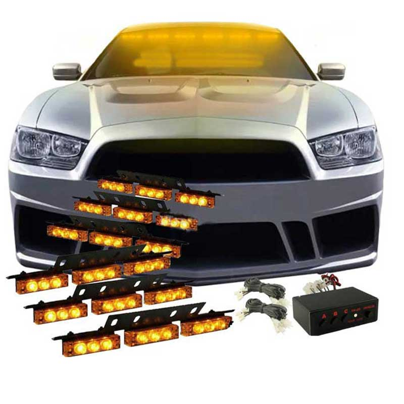 Car 6*9 54 LED warning lights Flash Light.Police  Light Flashing Emergency Firemen Lamp 3 Mode 12V. red blue amber white