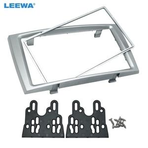 Image 1 - LEEWA Car Double Din DVD Radio Fascia Frame for PEUGEOT 308/408 Dashboard Panel Mount Installation Adapter Trim Kit #CA5191