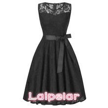 Summer Dress Women 2018 Elegant Hollow Out Lace Dress Casual Slim Sleeveless Ball Gown Party Dresses Female vestidos 2XL цена и фото