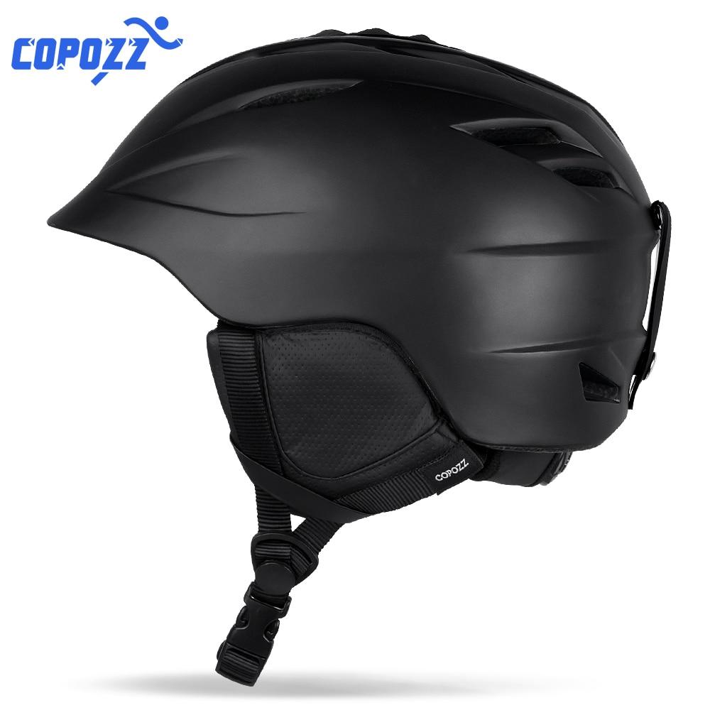 COPOZZ Brand Snowboard Ski Helmet Safety Integrally molded Breathable Helmet Men Women Skateboard Skiing Helmet Size
