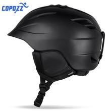 COPOZZ, фирменный шлем для сноуборда, лыжного спорта, безопасный, цельный, формованный, дышащий, мужской, женский, скейтборд, лыжный шлем, размер 55-61 см