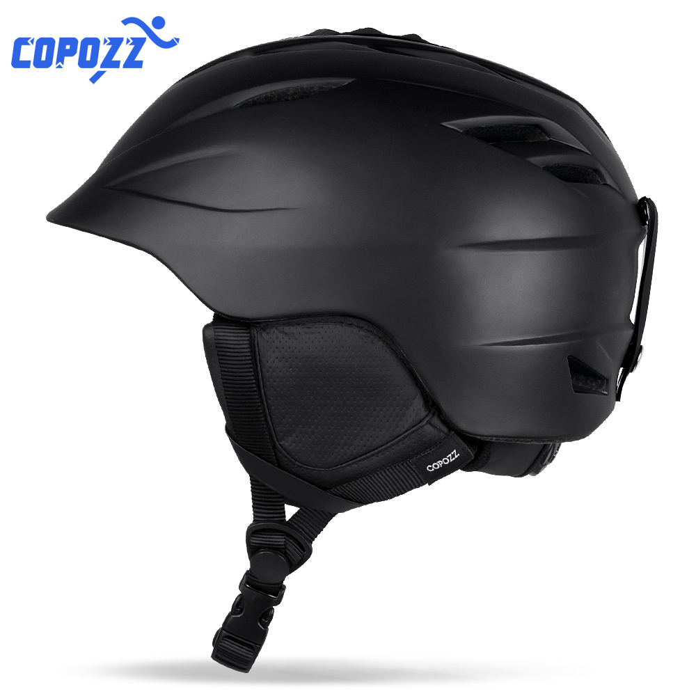 COPOZZ Brand Snowboard Ski Helmet Safety Integrally molded Breathable Helmet Men Women Skateboard Skiing Helmet Size