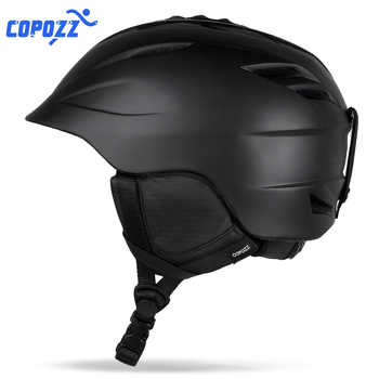 COPOZZ Brand Snowboard Ski Helmet Safety Integrally-molded Breathable Helmet Men Women Skateboard Skiing Helmet Size 55-61cm - DISCOUNT ITEM  25% OFF All Category