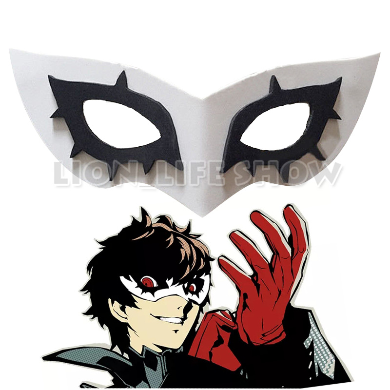 Persona 5 P5 Joker Cosplay Mask Prop Accessories Halloween Headwear Adjustable