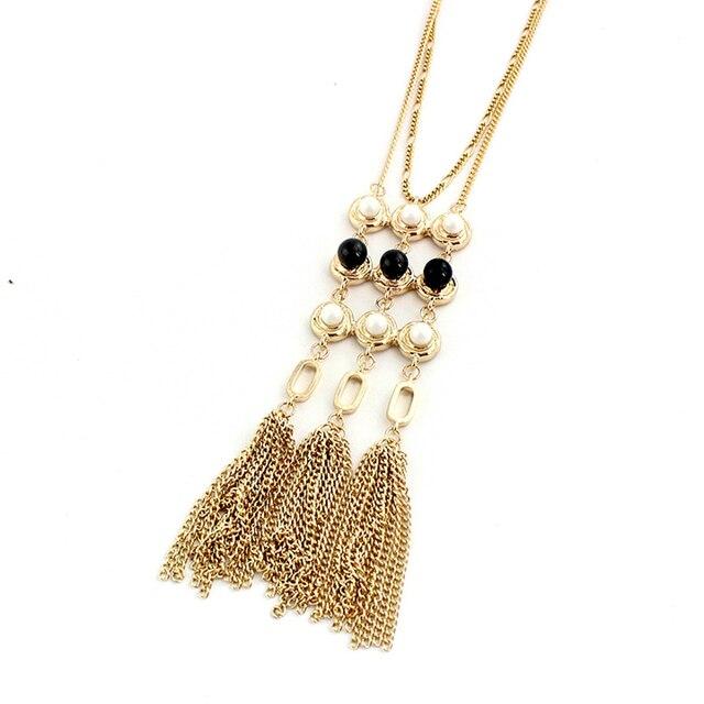 Chicvie ожерелья с длинным воротником и подвески золотого цвета