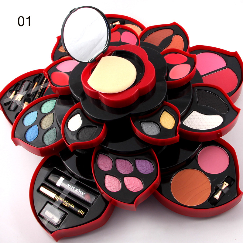 Miss Rose professional Balmmakeup set Makeup box eyeshadow Pressed powder lipgloss blush Multifunctional Makeup box Makeup Tools цена