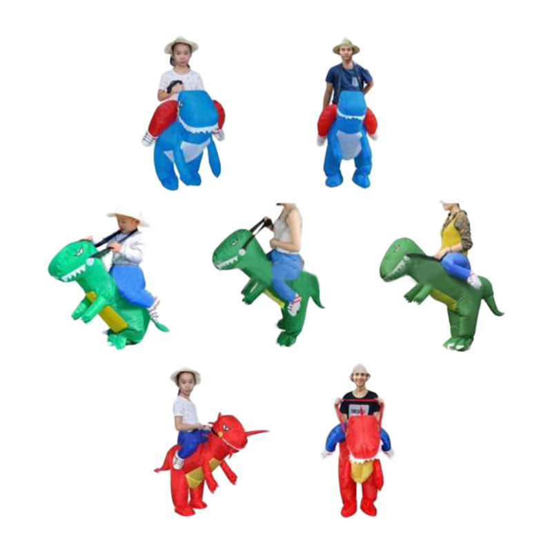 Inflatable Dragon Fancy Dress Dinosaur Halloween Fat Costume Suit Adult/Kids Full Set
