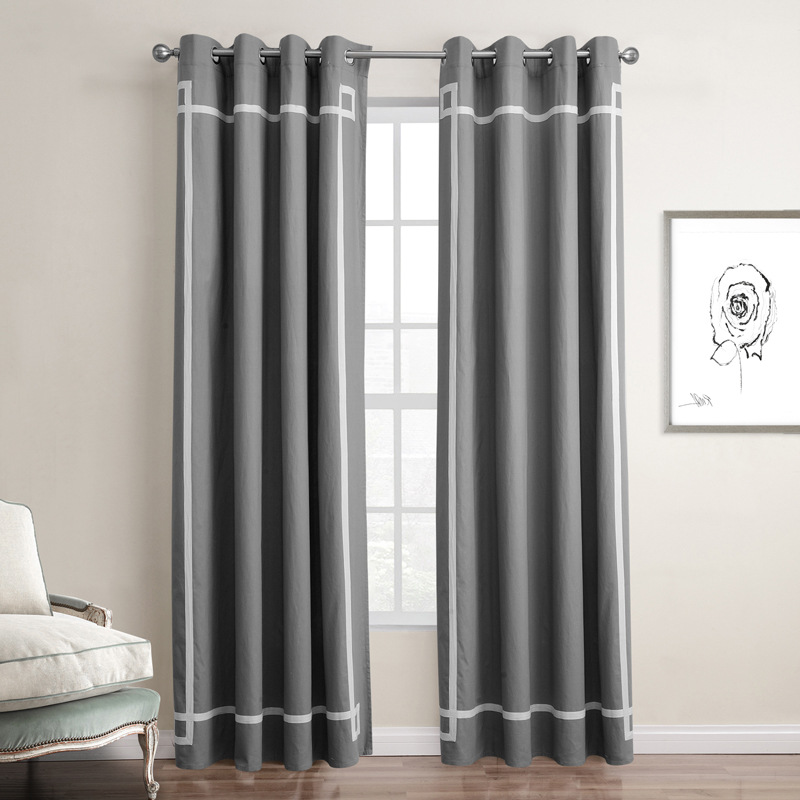 thermal insulated blackout panel curtains for living room. Black Bedroom Furniture Sets. Home Design Ideas