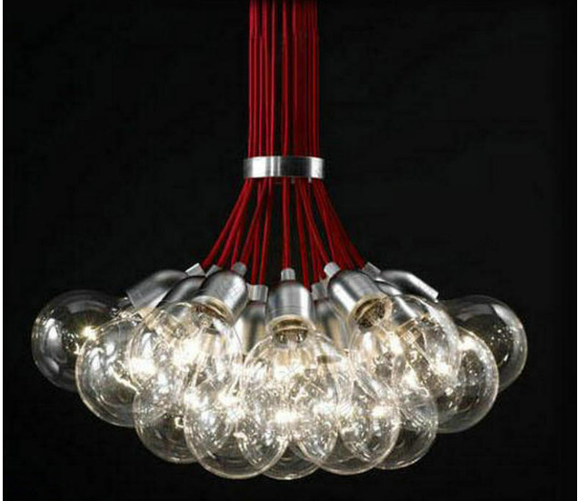 Free Ship Multi Head Of The Red Bubble Chandelier Pendant Lamp For Decor Sitting Room Bedroom