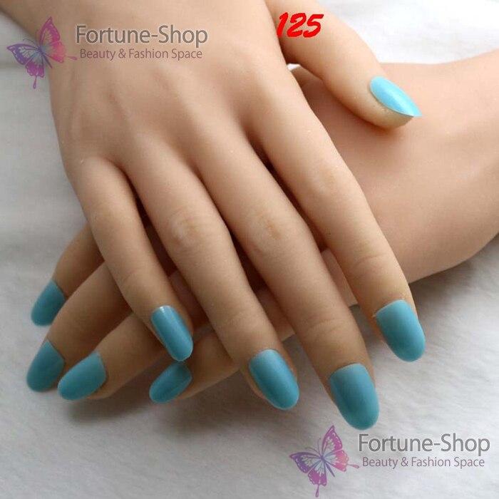 TKGOES 24pcs/set False Acrylic nails Candy color nail tips round ...