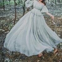 Lady Japanese Sweet Dress Linen Tribal Retro Fairy Princess Beach Elegant Beach