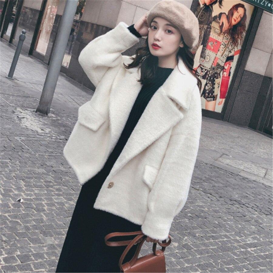 2019 Vêtements Femmes Ins Court Milky Décontracté De Coton Qualité Manteau Imitation Supérieure Tir Nouvelle D'eau Réel Velours Mode Veste waEWnFAq