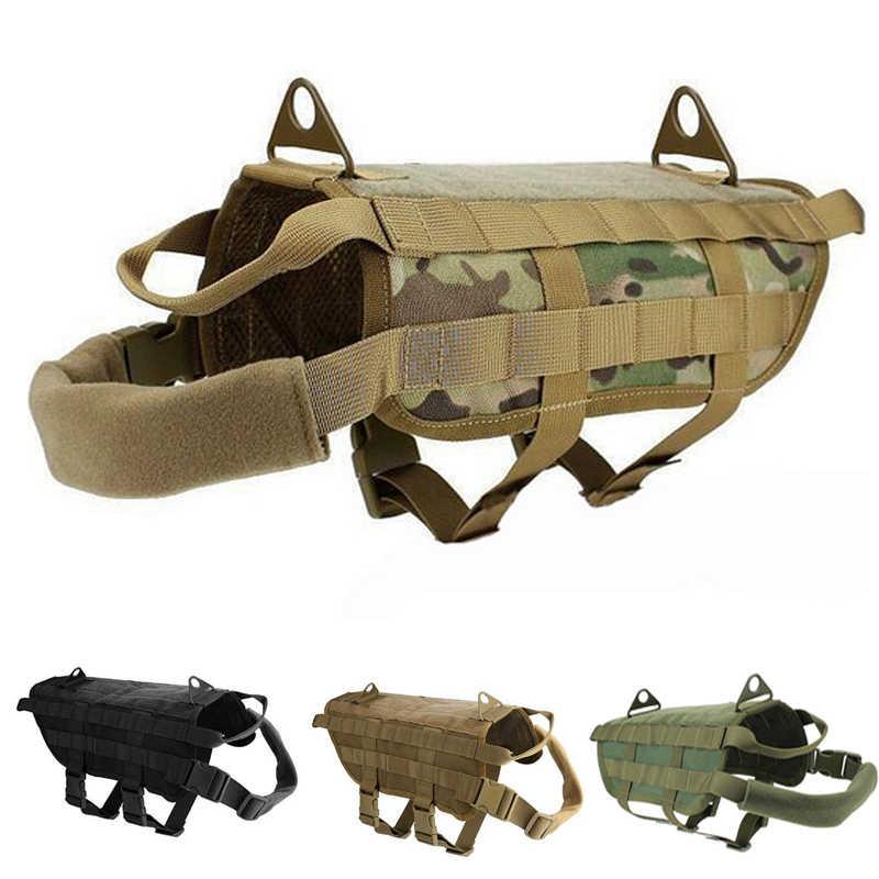 K9 tactique militaire Molle système Police chien formation gilet chasse chien harnais vêtements imperméable gilet M-XL