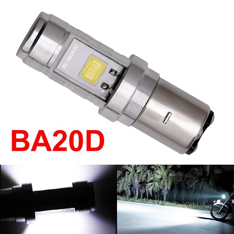 1x H6 BA20D Led Headlight Light BA20D Motorcycle Led Headlight High Low Beam BA20D COB Motorbike Headlight Fog Light Bulb