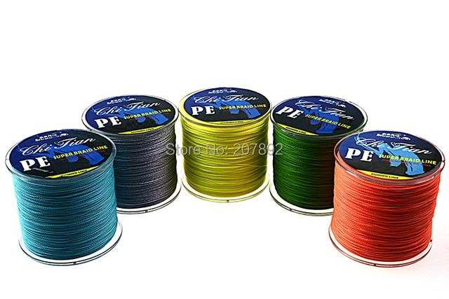 4strands 300M PE Braid Fishing Line Green/ Yellow/Grey /Blue/Orange 12LBS--140LBS