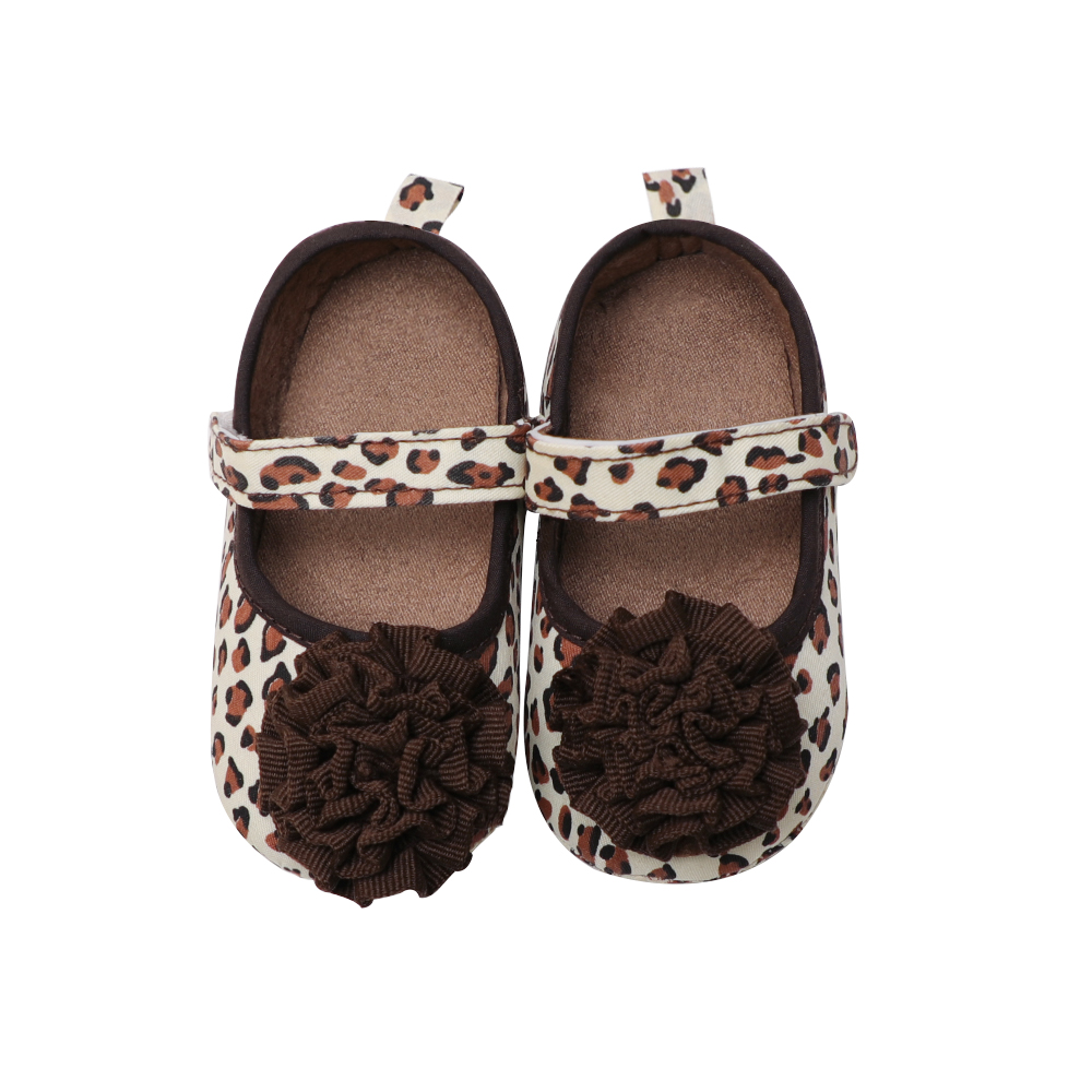 Hot Sale Crib Shoes Leopard Baby Girl Shoes First Walkers Infant Good Soft Sole Toddler Baby Shoes 0-18 Months Prewalkers