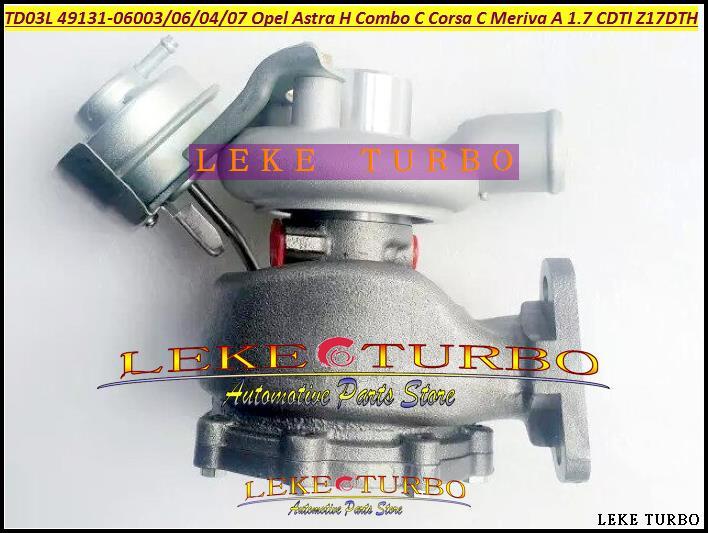 TD03L 49131-06016 897300 8973000926 860070 860128 860147 98102364 Turbo For Opel Astra H Combo C Corsa C Meriva CDTI Z17DTH 1.7L